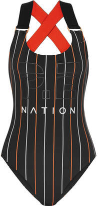 P.E Nation The West Port Reversible Swimsuit - Black