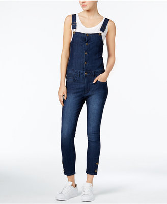 RACHEL Rachel Roy Cropped Denim Overalls, Only at Macy's $119 thestylecure.com