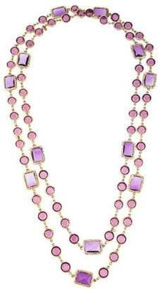 Chanel Crystal Long Sautoir Necklace