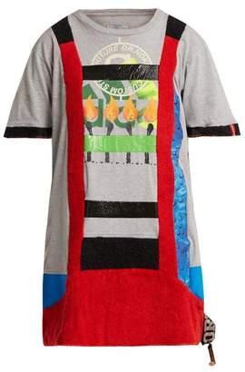 Noki - Matchstick Print Cotton T Shirt Dress - Womens - Grey Multi