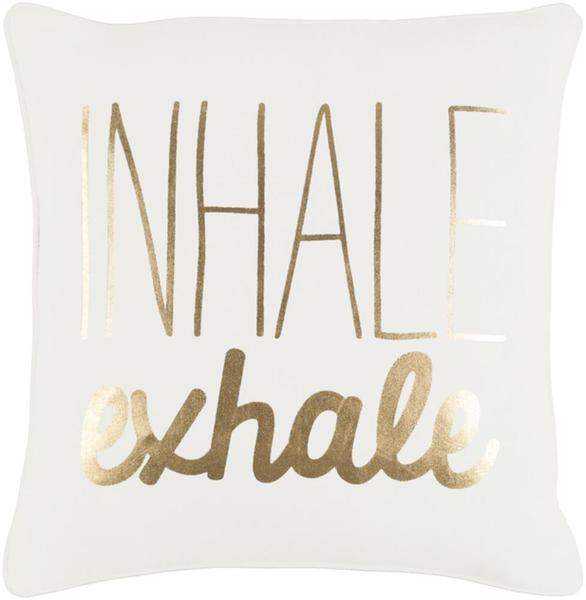 Deep Breaths Toss Pillow IVORY/GOLD