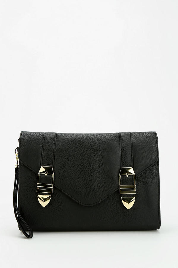 Urban Outfitters Deena & Ozzy Faceted Buckle Clutch