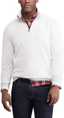 Chaps Men's Regular-Fit Mockneck Quarter-Zip Pullover