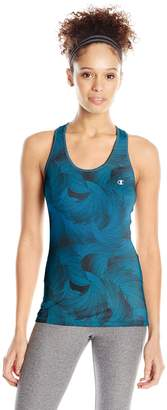 Champion Women's Absolute Tank Top, Faded Indigo Blue Ombre Blade Spin, L