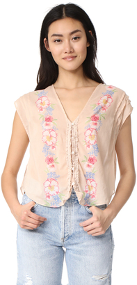 Free People Gardenia Top $88 thestylecure.com
