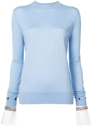 ADAM by Adam Lippes jewel embellished cuff sweater