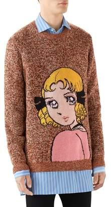 Gucci Manga Intarsia Wool Crewneck Sweater