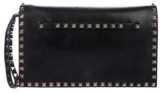 Valentino Leather Rockstud Clutch