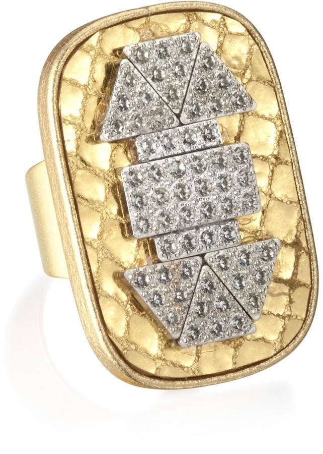 Charm & Chain Sandy Hyun Snakeskin Deco Ring