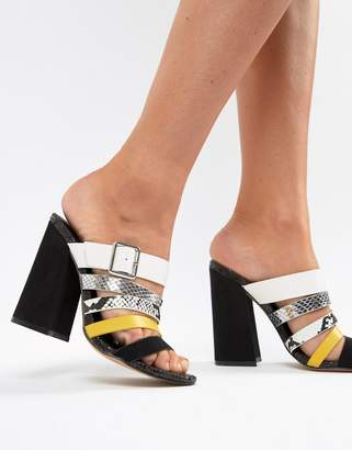 Asos DESIGN Hertz multi strap heeled sandals