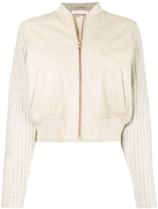 See by Chloe knit sleeves bomber jacket