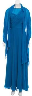 St. John Silk Maxi Dress