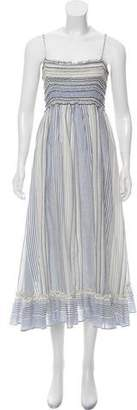 Max Studio Striped Midi Dress