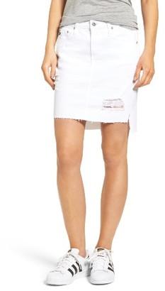 AG Jeans Women's The Erin Step Hem Denim Skirt
