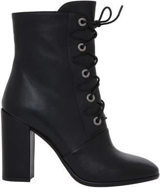 Giselle Black Leather Boot