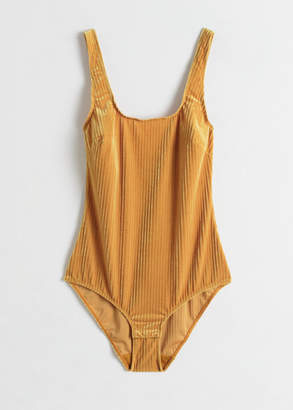 And other stories Stretch Velour Bodysuit