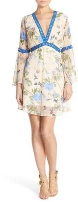 Women's Fraiche By J Floral Print Chiffon Blouson Dress $113 thestylecure.com