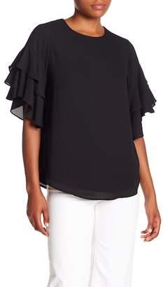 Karen Kane Ruffle Sleeve Blouse