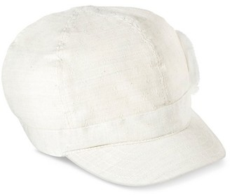 Mossimo Supply Co Women's Canvas Newsboy Hat with Distressed Flower Ivory - Mossimo Supply Co. $9.99 thestylecure.com