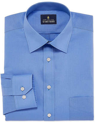 STAFFORD Stafford Men's Fitted Easy-Care Stretch Dress Shirt