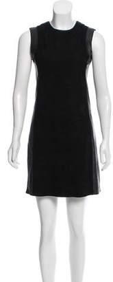 Vince Leather Sleeveless Mini Dress
