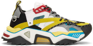 Calvin Klein Blue and Yellow Strike 205 Sneakers