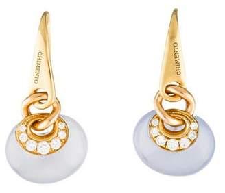 Chimento 18K Diamond & Chalcedony Drop Earrings
