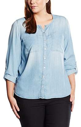Via Appia Women's Regular Fit Long Sleeve Blouse - Blue