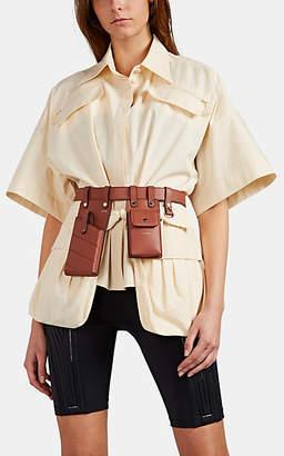 Fendi Women's Pocket-Detailed Cotton Blouse - Cream