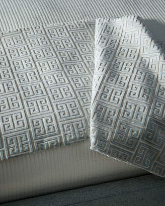 Isabella Collection Lyssa Greek Key King Bed Scarf