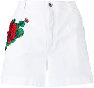 Dolce & Gabbana embroidery denim shorts