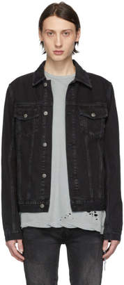 Ksubi Black Denim Classic Sketchy Jacket