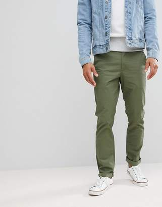 Farah Elm Slim Fit Twill Chino in Military Green