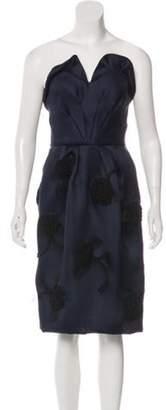 Oscar de la Renta Strapless Cocktail Dress w/ Tags black Strapless Cocktail Dress w/ Tags