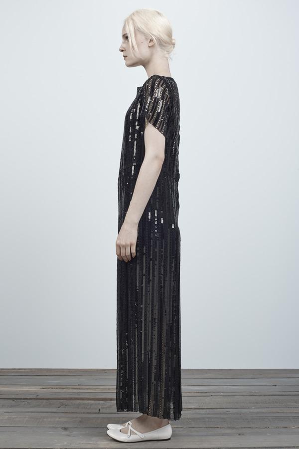 Marc Jacobs Stripe Sequin Boatneck Dress