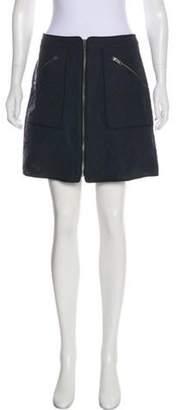 Kenzo Jacquard Mini Skirt Black Jacquard Mini Skirt
