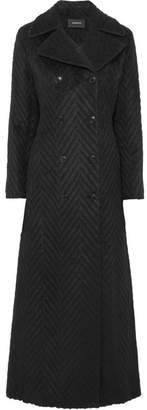 Akris Double-breasted Wool, Alpaca And Silk-blend Coat - Black