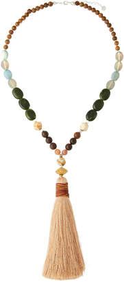 Nakamol Long Beaded Tassel Necklace