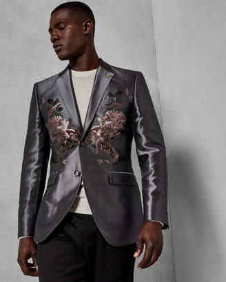 771d63a5301e0d at Ted Baker · Ted Baker HIDEN Jacquard silk blend jacket