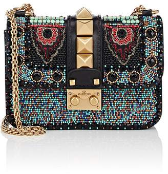 Valentino WOMEN'S MINI BEADED LEATHER SHOULDER BAG