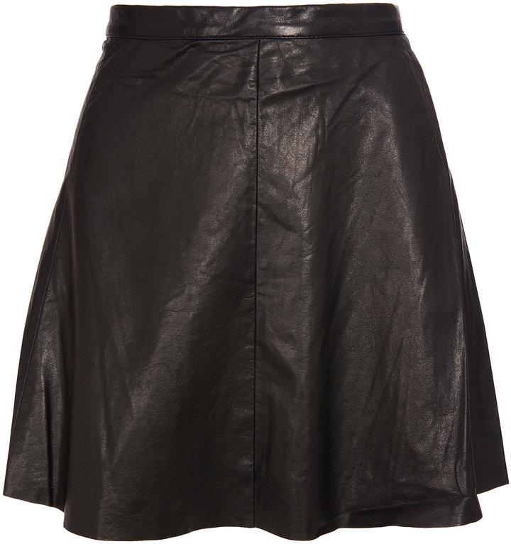 A.L.C. Leather mini skirt