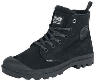 Palladium Womens Pampa Hi Zip WL Nubuck Black Boots 9 US