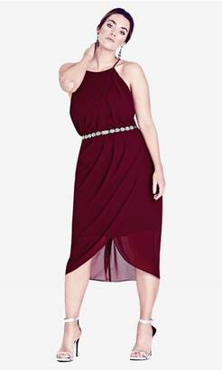 City Chic Garnet Wrap Love Dress