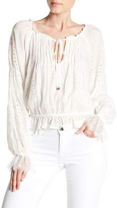ASTR the Label Lennon Eyelet Blouse