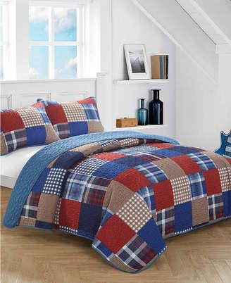 Idea Nuova Plaid Patchwork Quilt Set - Full Bedding