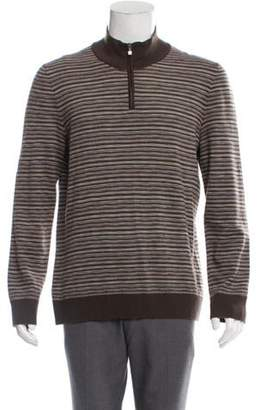 Missoni Wool Striped Half-Zip Sweater brown Wool Striped Half-Zip Sweater
