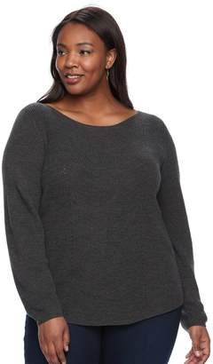 Croft & Barrow Plus size Textured-Stitch Sweater