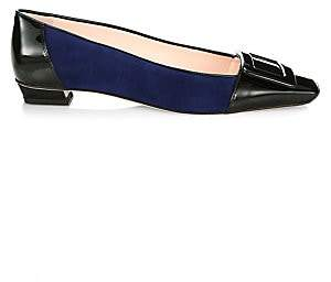 Roger Vivier Women's Belle Buckle Toe Pumps