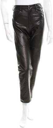 Veda Straight-Leg Leather Pants