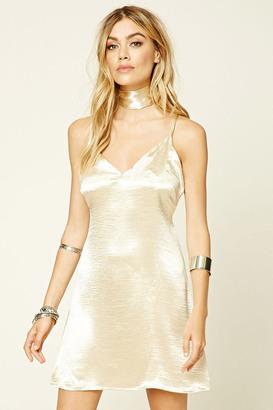 FOREVER 21+ Reverse Choker Slip Dress $55 thestylecure.com